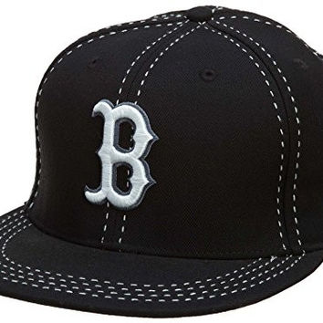 New Era Boston Red Sox Fitted Hat Mens style: Hat255-BLACK Size: 7.375
