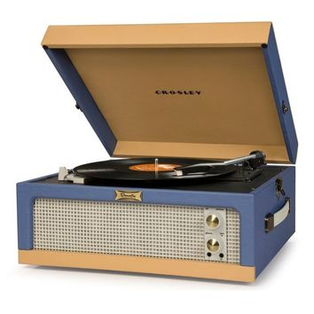 CR6234A-BT Crosley Retro Dansette Junior Turntable (Blue)
