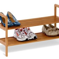 Honey-Can-Do SHO-01600 Bamboo 2-Tier Shoe Shelf