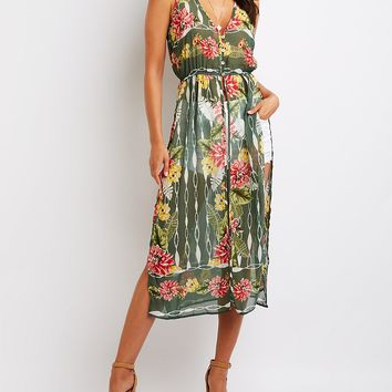 Floral Longline Tunic | Charlotte Russe
