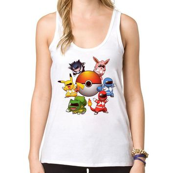2018 Fashion  Go Women Tank Tops  Spirits Pikachu Printed Casual  Vest Cartoon  CamisoleKawaii Pokemon go  AT_89_9
