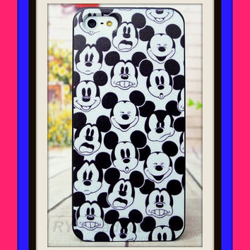 Mickey Mouse character SELFIE cell phone case for iPhone 6 6s 6S black and white