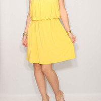 Yellow Bridesmaid Dress Short Summer dress party dress