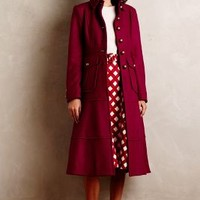 Militaria Wool Coat by Nanette Lepore Raspberry