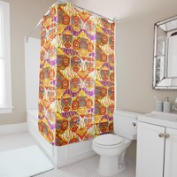 African Tribal Print Shower Curtain