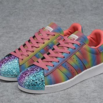 adidas originals colorful superstar 80s trainers with colorful 3d metal toe cap sneakers sport shoes