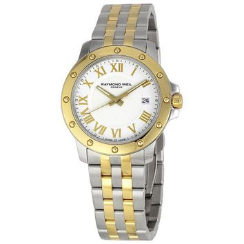 Raymond Weil Tango White Dial Two-tone Mens Watch 5599-STP-00308