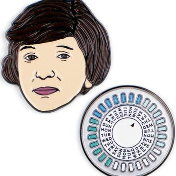 Margaret Sanger & The Pill Enamel Pin Set