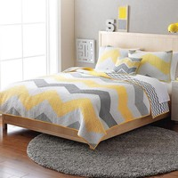 Home Classics Erin Reversible Quilt (Yellow)