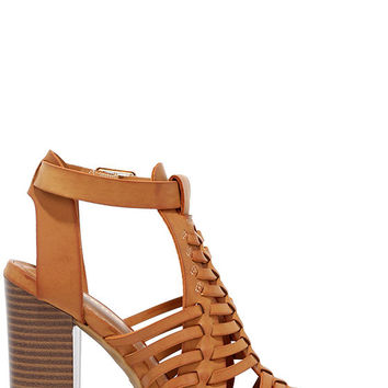 Through My Mind Natural High Heel Sandals