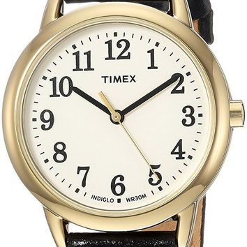 DCCKJY6X Timex Women's Easy Reader Leather Strap Watch
