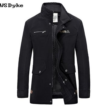 Autumn Slim Military Style Jackets For Men Multi Colors Hombre