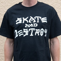 Thrasher Skate And Destroy T-Shirt In Black