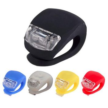 DCCKL72 With Battery Led Bicycle Lights Silicone Bike Light Head Front Rear Wheel Bicycle Accessories Waterproof Cycling Front Led Light
