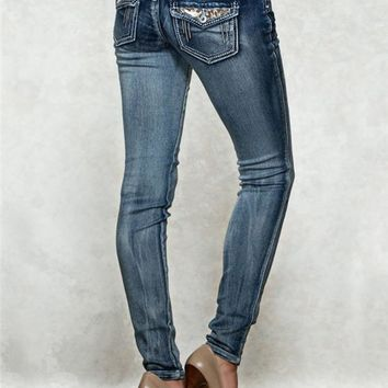 Harlow Jegging Back Flap Luxe Jeans