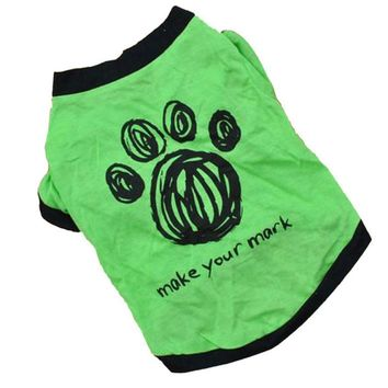 New Cute Dog Spring Or Summer Pet T-Shirt Clothes  pets clothing for dogs small dog clothes  products for animals