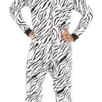 Footed Pajamas - Zebra Stripes Kids Hoodie Fleece - XSmall