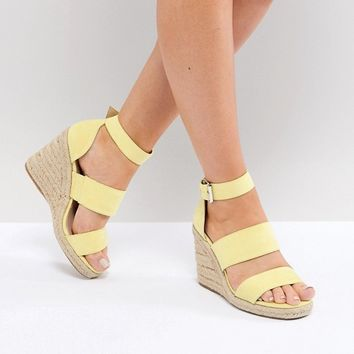 ASOS DESIGN Taffy espadrille wedges at asos.com