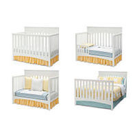 Delta Children Bennington Lifestyle Flat 4-in-1 Convertible Crib - White Ambiance