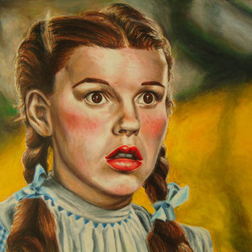 Follow the Yellow Brick Road - Hand drawn colored pencil artwork - Dorthy art - Wizard of Oz art - Movie Artwork - Wall Decor - Original art