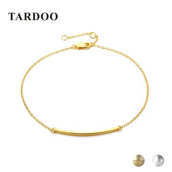 Tardoo Thin Long Stick Bracelets 925 Sterling Silver Geometry Charm Bracelet For Women Fine Jewelry Simple Chain Link Bracelets