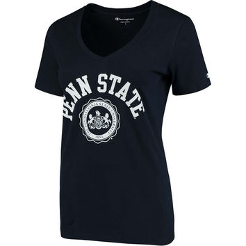 Women's Champion Navy Penn State Nittany Lions College Seal V-Neck T-Shirt