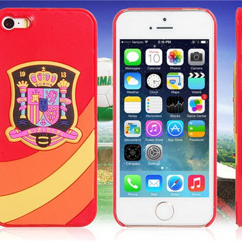 World Cup Spanish Football Team Case for iPhone 5/5S
