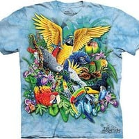 The Mountain Birds Of The Tropics Parrot,Toucan Adult T-Shirt PRINT IN USA MT76