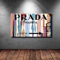 "Large 26x45"" Box Framed Canvas Print Artwork Stretched Gallery Wrapped Wall Art Painting Hanging Original Decorative Modern Home & Living Decor Prada Marfa Fashion Girls Living Room Bedroom (Canm13)"