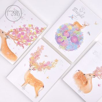 New Cute notebook school Diary 96 sheets paper Horizontal plastic sleeve Notepad Office school supplies gift