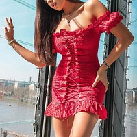 2020 new women's dress with shoulder strap cotton embroidered dress