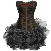 Black Corset with Organza Tutu