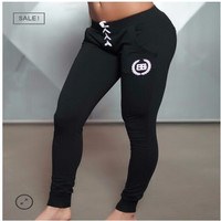 2016 New Gold Medal Fitness Pants, Stretch Cotton Women Fitness Pants Body Engineers Joggers