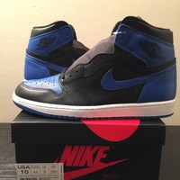 "Air Jordan 1 High OG Retro 2017 ""ROYAL"" sz 10 banned i bred xi off white supreme"