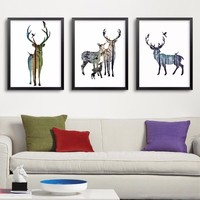 Animals Forest Wall Art Wall Decor, Wall Picture Canvas Prints Canvas Art Poster Oil Paintings For Living Room Wall No Frame