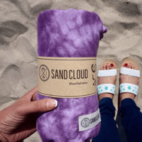 Sand Cloud Purple Swirl Tie-Dye Beach Towel
