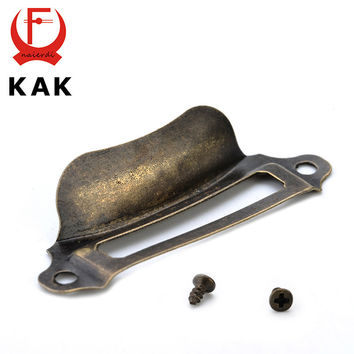 10pcs KAK Antique Brass Metal Label Pull Frame Handle File Name Card Holder For Furniture Cabinet Drawer Box Case Hardware