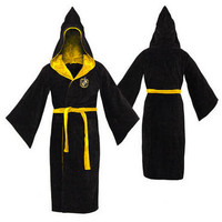 Hufflepuff Cotton Adult Bathrobe | HarryPotterShop.com