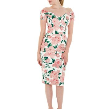 The Pretty Dress Company Fatale Pencil Dress in Sorrento Print