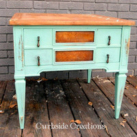 Mint Green Side Table