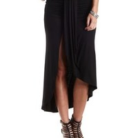 Ruched Asymmetrical Wrap Skirt by Charlotte Russe