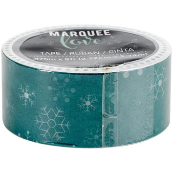 Teal Snowflakes Christmas Washi Tape, 9 Feet by 7/8 Inches: Marquee Love by Heidi Swapp