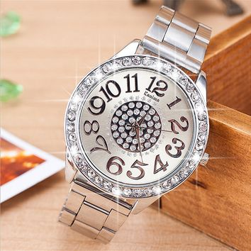 Diamond Fashion quartz alloy steel watch