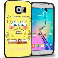 Cute Spongebob Best Friends for Best Iphone and Samsung Galaxy Case (samsung galaxy s6 black)