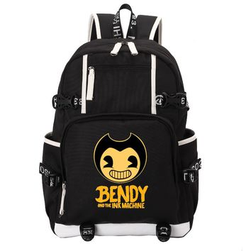 Bendy and The Ink machine Game school bag backpack student school bag Notebook backpack Daily backpack