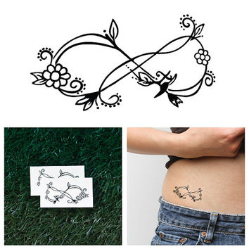 Ornate Infinity Symbol - Temporary Tattoo (Set of 2)