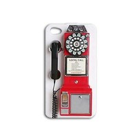 Cute Red and White Retro Pay Phone Case Funny iPhone Cover