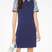 Floral Sequined Collared Shift Dress | Michael Kors