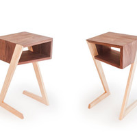 Side tables, coffee tables, bedside tables, pedestal tables - Twin - solid wood, walnut and ash - a showcase for iPad and other tablets
