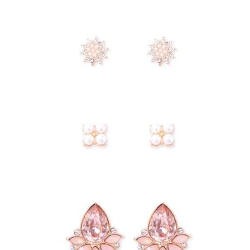Diamante Stud Earring Set